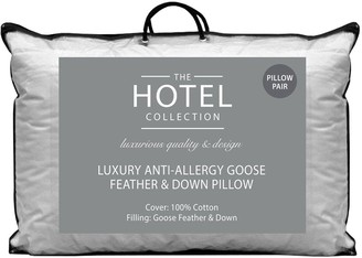 Hotel Collection Luxury Anti-Allergy Goose Feather andDown Pillows (Pair)