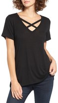 Socialite Strap Front Tee