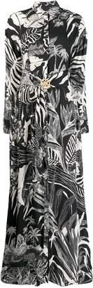 Just Cavalli leaf print shirt dress