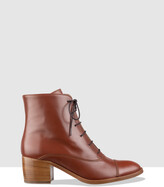 Thumbnail for your product : Habbot. Women's Brown Heeled Boots - Grind Lace-Up Boots - Size One Size, 40 at The Iconic