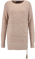 Rachel Zoe Sonia Ribbed-Knit Silk And Cotton-Blend Sweater