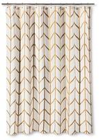 Threshold Shower Curtain Gold Ikat