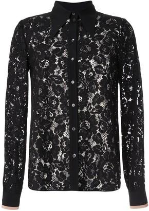 No.21 Floral Lace Shirt