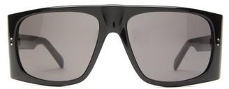 Celine Curved Flat-top Rectangular Acetate Sunglasses - Black