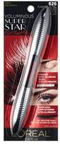 L'Oreal Voluminous Superstar Red Carpet Mascara, 626 Flash Reflecting Black.