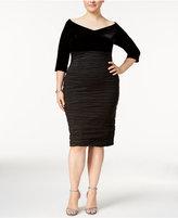 Alex Evenings Plus Size Velvet Crinkle Sheath Dress