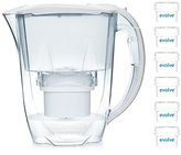 Aqua Optima 12 month annual pack - Oria Water filter jug with 6 x 60 day Evolve filter cartridges - White