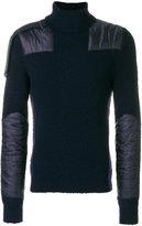 Moncler shoulder panel turtleneck sweater