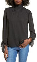 Soprano Women's Tie Detail Turtleneck Blouse