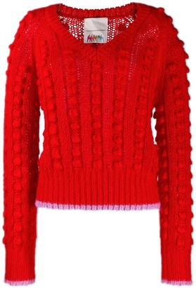 Marco De Vincenzo Contrasting Trim Chunky Jumper