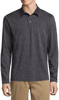 ST. JOHN'S BAY St. John's Bay Long Sleeve Solid Performance PoloShirt