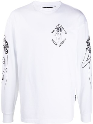 Palm Angels 'Topless Exotic' print long-sleeve T-shirt