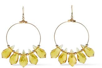 Kenneth Jay Lane Gold-tone Citrine Earrings