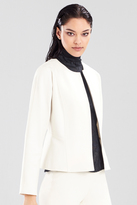 Josie Natori Double Knit Jersey Short Seam Jacket