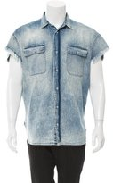 R 13 Cutoff Denim Shirt