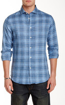 Slate & Stone Trim Fit Linen Long Sleeve Woven Shirt