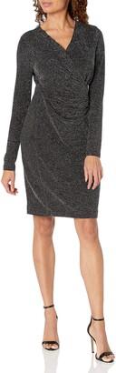 Karen Kane Women's Sparkle Faux WRAP Dress