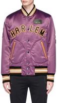 Coach 'Harlem' assorted appliqué satin souvenir jacket