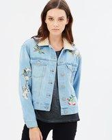 Only Caroline Embroidered Denim Jacket