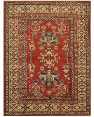 Marlow World Menagerie One-of-a-Kind Hand-Knotted 6' x 8' Wool Red/Beige Area Rug World Menagerie