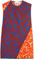 Jonathan Saunders Elisa paneled floral-print crepe top