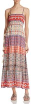 Love Sam Smocked Pattern Block Maxi Dress