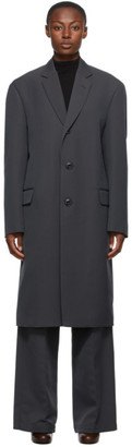 Lemaire Grey Wool Suit Coat