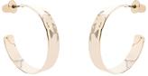 Accessorize Hammered Medium Hoop Earrings