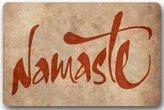 Homie Design Fashion /Outdoor Washable Doormat Yoga Ymbol Namaste The Dark Custom Door Mat/Gate Pad 23.6 X 15.7 Inch Indoor/Outdoors