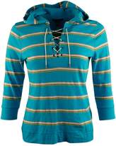 Lauren Ralph Lauren Women's Striped Hood Shirt [M] []