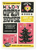 Minted Retro Swank Poster Holiday Party Invitations