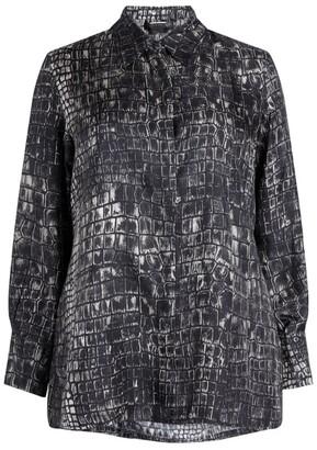 Marina Rinaldi Snakeskin Pattern Shirt