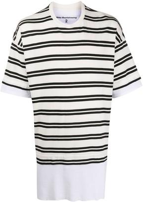 White Mountaineering stripe layered T-shirt