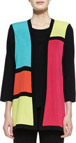 Misook Rosalie 3/4-Sleeve Colorblock Cardigan