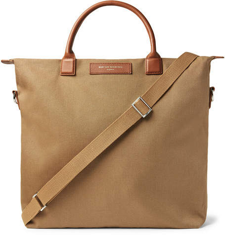 95818b33b Mens Canvas Leather Tote - ShopStyle Canada