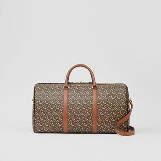 Burberry Monogram Print E-canvas and Leather Holdall