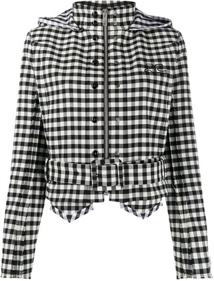 Courreges Cropped Checkered Jacket