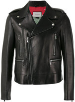Gucci classic biker jacket - men - Silk/Lamb Skin/Cupro - 52