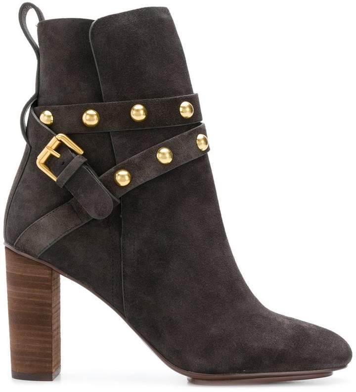 See by Chloe studded strap boots