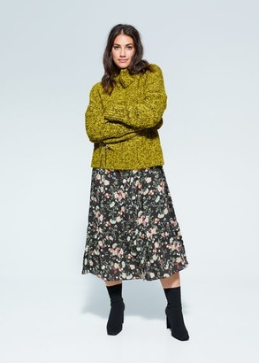 MANGO Violeta BY Turtleneck sweater lime - S - Plus sizes