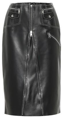 Alexander McQueen Leather midi skirt