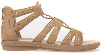 Geox J Sandal Milk C Leather Gladiator Sandals