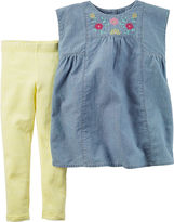 Carter's Sleeveless Chambray Top and Jeggings Set - Baby Girls newborn-24m