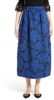 Oscar de la Renta Women's Floral Fil Coupe Midi Skirt