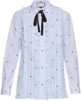 Gucci Bee fil coupé cotton shirt