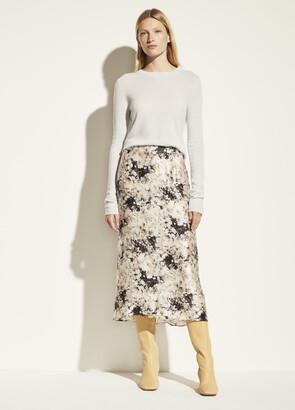 Vince Painted Crema Slip Skirt