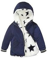 Tommy Hilfiger Big Girl's Th Kids Reversible Star Coat