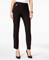 Thalia Sodi Zip-Pocket Skinny Pants, Only at Macy's