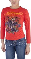 Ed Hardy Toddlers Girls T-Shirt - Red - 3/
