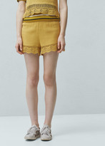 Mango Outlet Crochet Shorts
